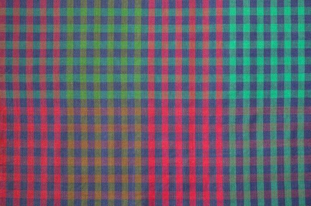 Motif de texture de tissu écossais