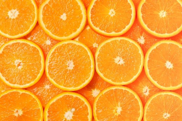 Motif de tranches d'oranges