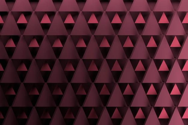 Motif triangle géométrique violet foncé. fond avec des formes répétitives triangulaires.