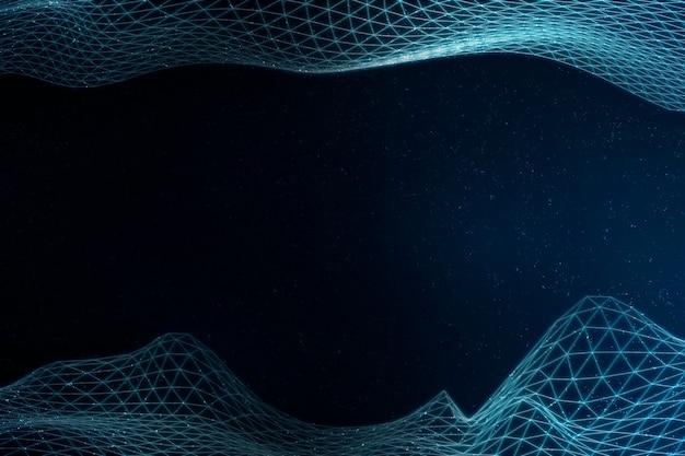 Motif de vague abstraite 3d bleu clair