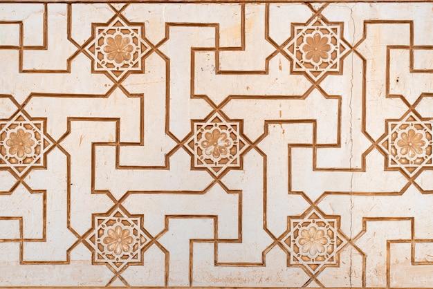 Motifs arabes sur le mur