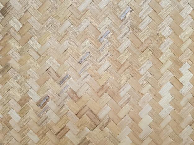 Motifs de bambou tissés
