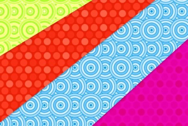 Motifs colorés avec des cercles