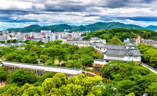 Motifs du château de himeji dans la région du kansai au japon