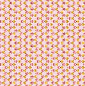 Motifs de fleurs roses et jaunes illustrés sans soudure plein cadre