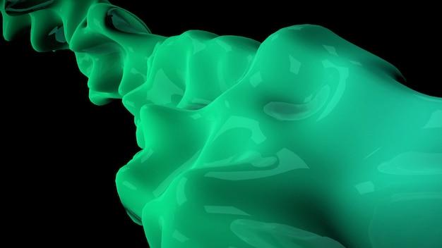 Motion formes futuristes liquides vert foncé, abstrait géométrique. style d'illustration 3d élégant et luxueux pour le modèle d'entreprise et d'entreprise