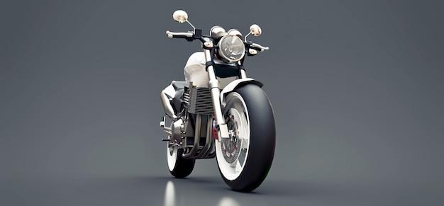 Moto biplace sport urbain blanc