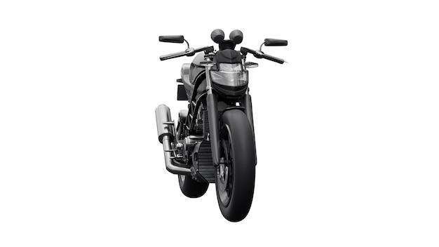 Moto super sport noire sur fond blanc. illustration 3d.