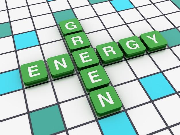 Mots croisés énergie verte mots