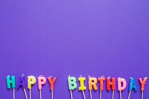 Mots de salutation de joyeux anniversaire
