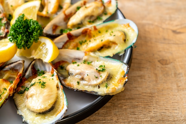 Moules au fromage