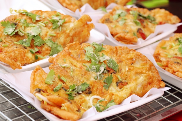 Moules frites croustillantes à l'oeuf