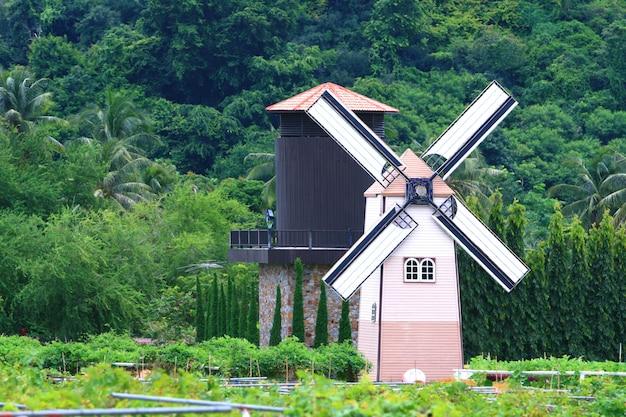 Moulin à vent hollandais traditionnel