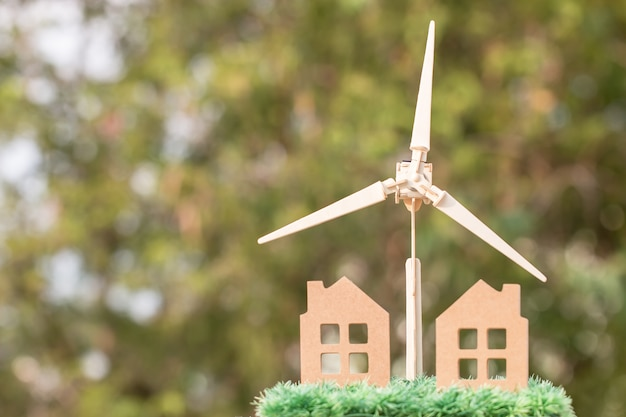 Moulin à vent avec modèle domestique