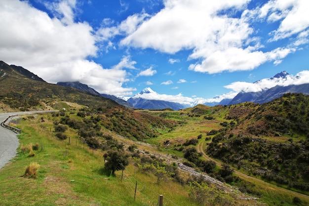 Mount cook dans le parc national, nouvelle-zélande