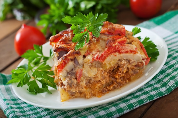 Moussaka, plat grec traditionnel