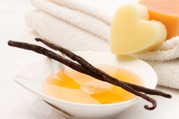 Mousse de bain à la vanille