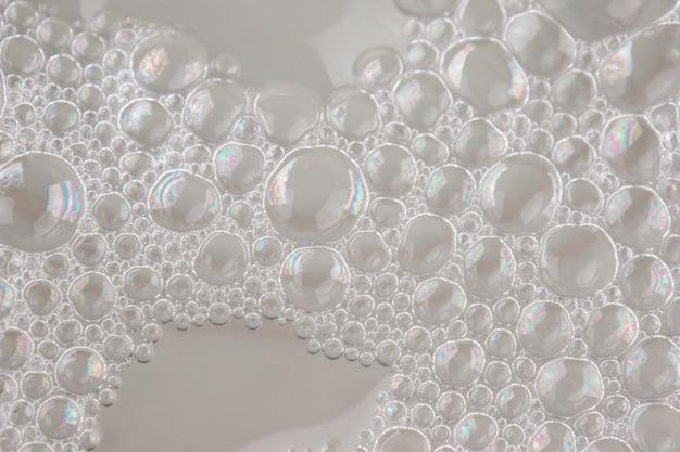 Mousse blanche texture abstrait fond closeup