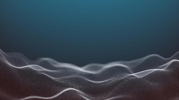 Mouvement abstrait surface numérique