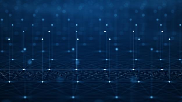 Mouvement du flux de données numériques.