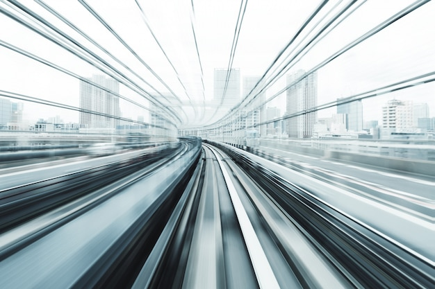 Mouvement flou du train