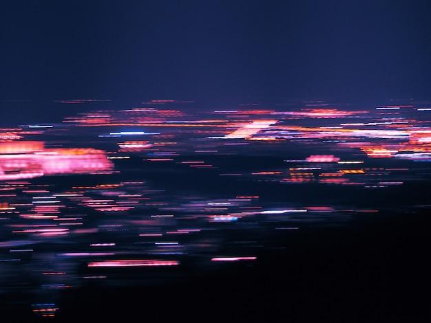 Mouvement flou fond clair de la ville. fond abstrait avec des lumières défocalisés bokeh.