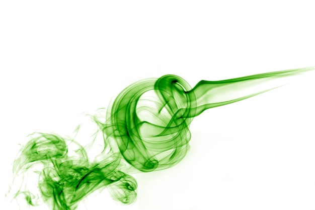 Mouvement de fumée verte.