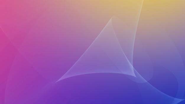 Mouvement des lignes jaunes et violettes, abstrait. style dynamique élégant et luxueux pour les entreprises, illustration 3d
