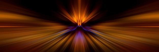 Mouvement des lignes lumineuses en perspective