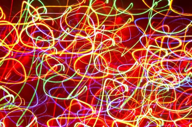 Mouvement de lumière colorée floue