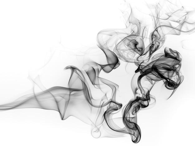 Mouvement toxique, résumé de fumée noire sur fond blanc