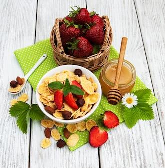 Muesli aux fraises
