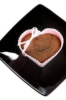 Muffin en forme de coeur