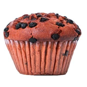 Muffin pépite de chocolat isolé