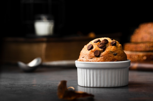 Muffin avec pépites de chocolat