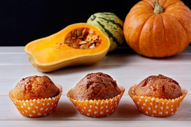 Muffins à la citrouille et au potiron