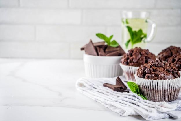 Muffins à la menthe et au chocolat