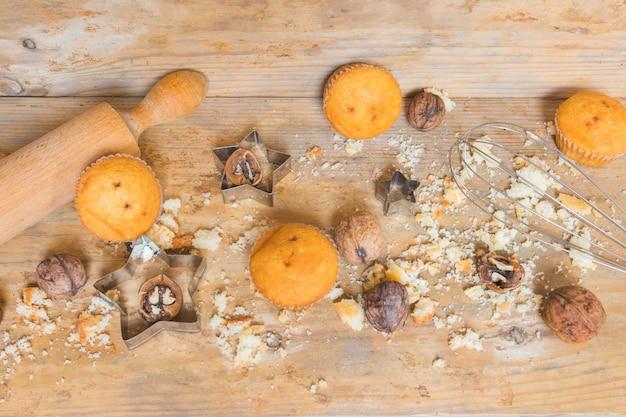 Muffins et noix