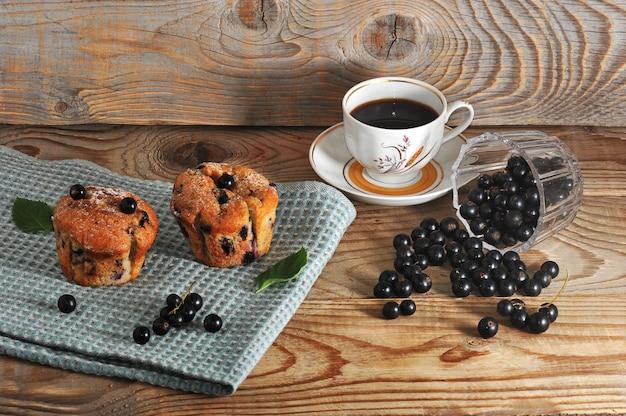 Muffins rustiques au cassis et au café