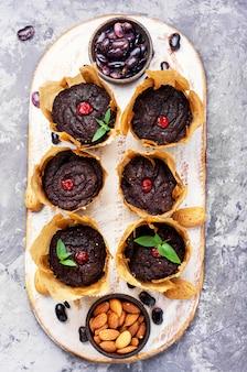 Muffins végétaliens à partir de haricots rouges