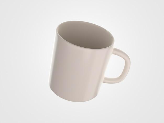 Mug 3d minimaliste avec poignée