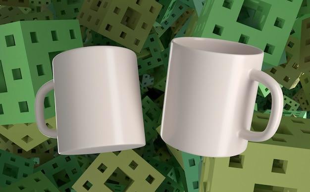 Mug 3d et mug 3d à l'envers