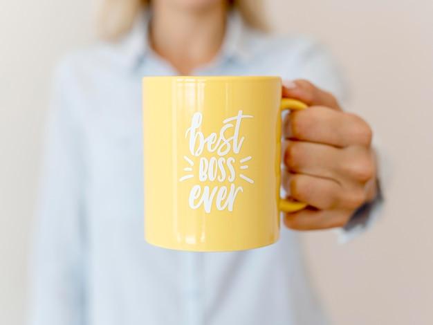 Mug avec le meilleur message de patron
