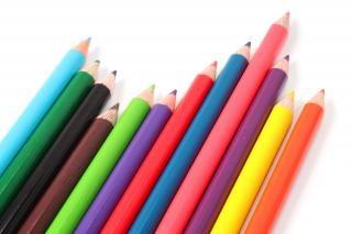 Multicolore crayons pastel