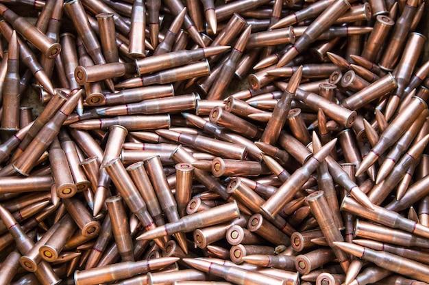 Munitions pour mitrailleuses en arrière-plan