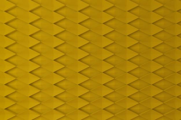 Mur 3d en forme de diamant jaune pour le fond, la toile de fond ou le papier peint