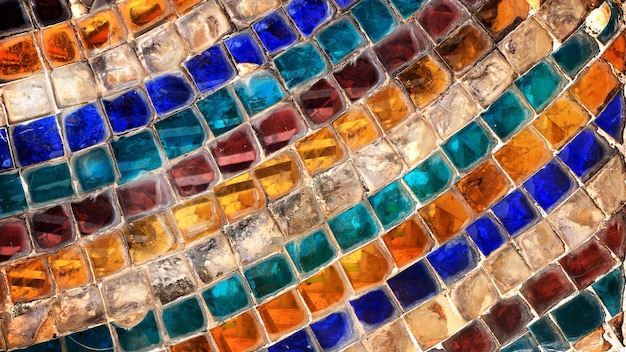 Mur abstrait de mosaïque de verre coloré