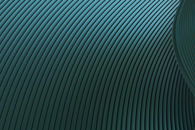 Mur abstrait vert architecture vague abstrait rendu 3d, fond vert pour la présentation