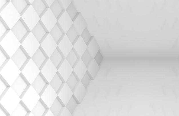 Mur d'art de carreau grille blanche style minimal