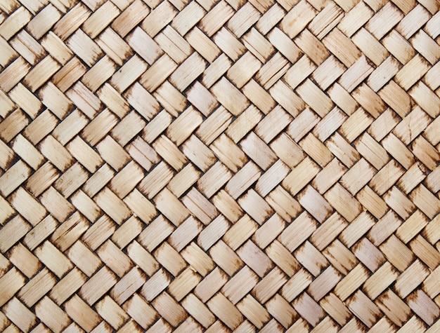 Mur de bambou de style thaïlandais natif